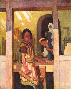 """Interesting control of light with face in foreground in shadow?: """"the son of man"""" from the ladies' home journal by n.c. wyeth c.1927"""