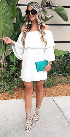 all white everything + bag