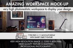 Amazing Workspace Mock-Up by Creative Mock Up on Creative Market