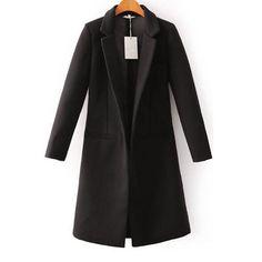 49,90EUR Mantel schwarz schmal