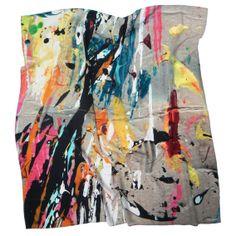 Silk scarf (Ink spots) by KATE BANAZI