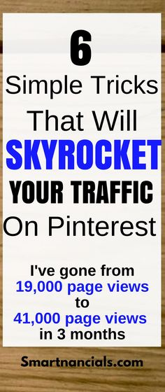 Six simple pinterest marketing tips that can really help skyrocket your traffic in a short time! Click through to learn how you can grow your blog!