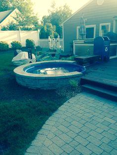 My poly stock tank mini inground pool
