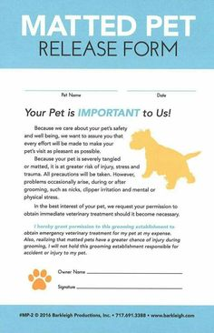 50 marketing ideas for the dog grooming business by alison jones modern matted pet release form tap the pin for the most adorable pawtastic fur baby apparel youll love the dog clothes and cat clothes solutioingenieria Gallery