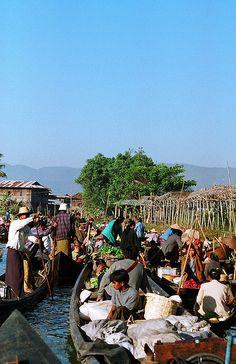 Floating Market on Inle Lake, Myanmar by Sanne Houlind