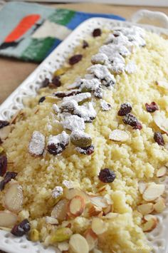 Traditional Egyptian couscous dessert, super easy for the new year.