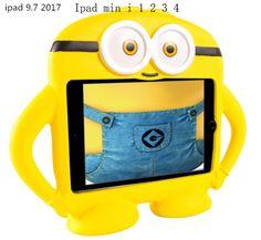 ipad pro inch Kids Protective Cute Shockproof Cartoon EVA Minion Case for ipad Mini 1 / 2 / 4 Macbook Air Pro, Macbook Case, Ipad 1, Ipad Mini, Apple Os, Cute Ipad Cases, All Smartphones, Ipad Stand, New Iphone