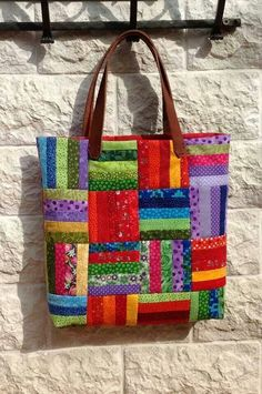 Most current No Cost sewing bags patchwork Ideas Bag - Patchwork - Bag Sewing Pattern, Bag Patterns To Sew, Quilt Patterns, Sewing Patterns, Quilted Purse Patterns, Wallet Pattern, Patchwork Patterns, Tote Pattern, Quilted Tote Bags