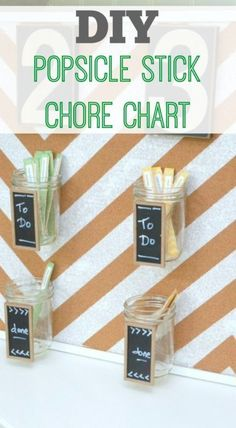 Chores are always a dreaded word in every family, but making them fun is always helpful. One system that has worked for us is the popsicle stick method. This helps kids feel more control over what chore. Popsicle Stick Crafts For Adults, Popsicle Sticks, Craft Stick Crafts, Crafts To Do, Craft Sticks, Kid Crafts, Craft Ideas, Chore Chart Kids, Chore Charts