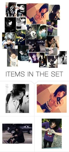 """Emo guys"" by mde-bmth-gt-patd-sws-mcr-bvb-miw ❤ liked on Polyvore featuring art"