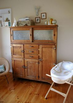 Im so in love with that vintage timber dresser!!! sigh, I want one!