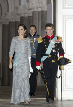 MYROYALS - HOLLYWOOD FASHİON: Crown Prince Frederick and Princess Mary arrive for the New Year's Reception for Diplomats 2013