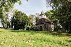 Church of the Good Shepherd in Lullington, East Sussex, was built from the remains of the chancel of an earlier church that was destroyed by fire, generally believed to have occurred at the time of Oliver Cromwell. It measures a mere 16 feet  square and seats 20 people