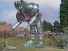 """K1 Robot from """"Robot,"""" the first episode of season 12 in the British science fiction television series Doctor Who. """"Robot"""" was first broadcast in four weekly parts from 28 December 1974 to 18 January 1975."""