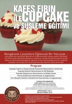 Bu hafta sonu @kafesfirin'da #cupcake ve süsleme eğitimi var..  #AnkaraEtkinlik #MedyaDergisi Ankara, Cupcake, Desserts, Food, Tailgate Desserts, Deserts, Cupcakes, Essen, Cupcake Cakes