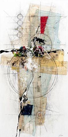 "Etienne Gelinas - Comp.161, 48""x 24"", 120cm x 60cm"