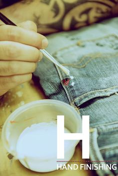 The Replay denim alphabet. H as in Hand finishing.
