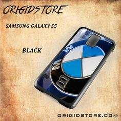 BMW Logo Black White Snap On 3D For Samsung Galaxy S5 Case