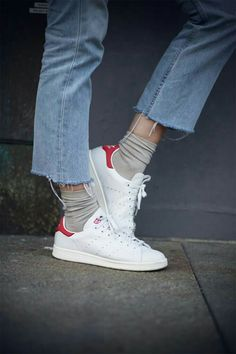 jeans, stan smith and socks