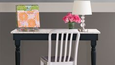 Customize this built-in desk to suit your room decor and needs, whether it's a family organization center, makeup table, or crafts desk.