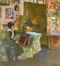 Edouard Vuillard, Composition Art, Green Sofa, Cleveland Museum Of Art, Pastel, Global Art, French Artists, Art Market, Art Day