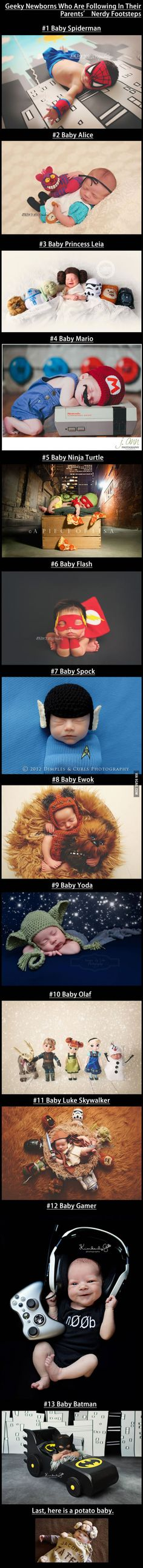 Geeky Newborns Who Are Following In Their Parents' Nerdy Footsteps
