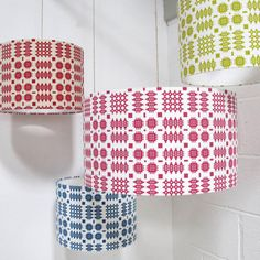 Hand Printed Welsh Blanket Lampshade £39.00