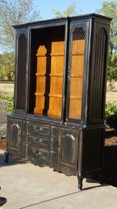Thomasville  /  Amazing Shabby French Country Style Hutch on Etsy, $1,295.00