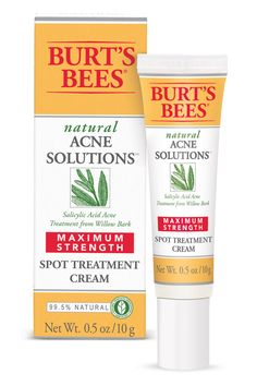 Even with the best skin-care routine, a few spots may break out here and there. For run-of-the-mill bumps, dab on a salicylic acid cream or gel, like Burt's Bees Natural Acne Solutions Maximum Strength Spot Treatment Cream, since putting it on your entire face can be too drying. For more troublesome blemishes, cover the breakout with hydrocortisone and seal it with waterproof Nextcare Band Aids; the seal intensifies the potency of the treatment and should, like a mini steroid injection…