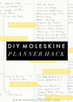 DIY Moleskine Planner Hack Ideas - easy way to stay ridiculously organized!