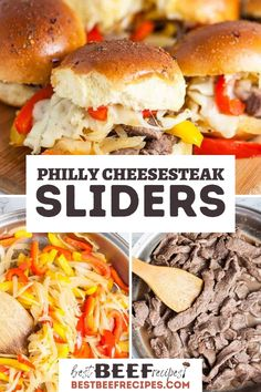What cheese do you like best on your Philly Cheesesteak? This Philly Cheesesteak Sliders recipe makes one of the best party food ideas ever! With just 10 minutes of prep and 30 minutes to cook, plus simple ingredients, these Hawaiian roll sliders are quick, easy, and so delicious. Tasty mini Philly cheesesteaks make a fun family dinner or the perfect football party finger food! #BestBeefRecipes #easyrecipes #dinners #phillycheesesteak #cheesesteak #sliders #sliderrecipes #slider… Philly Cheesesteak Sliders Recipe, Best Philly Cheesesteak, Philly Cheesesteaks, Best Beef Recipes, Meal Recipes, Top Sirloin Steak, Easy Holiday Recipes, Best Party Food, Juicy Steak