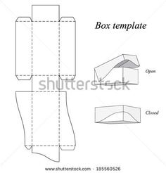Interesting Box Template with lid, vector illustration