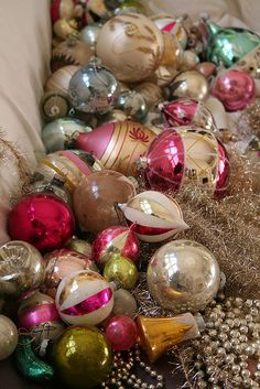 Glass ornaments by pam garrison, via Flickr