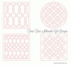 Free Silhouette Cut Patterns. I could use these to make my own embossing folders