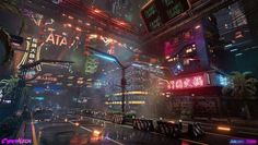CyberNeon: Cyberpunk Chinese City in by Junliang Zhang Arte Cyberpunk, Cyberpunk Aesthetic, Cyberpunk City, Futuristic City, Cyberpunk 2077, Cyberpunk Fashion, Futuristic Technology, Technical Artist, Videogames