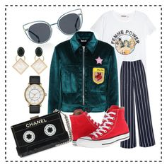 """""""Femme power"""" by andreolam on Polyvore featuring H&M, Warehouse, Fendi, Miu Miu, Converse, Marc by Marc Jacobs and Marni"""