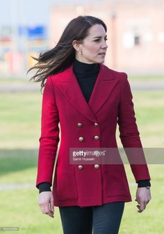 Catherine, Duchess of Cambridge visits the RAF Air Cadets at RAF Wittering on February 14, 2017 in Stamford, England. The Duchess of Cambridge is Royal Patron and Honorary Air Commandant of the Air Cadet Organisation.