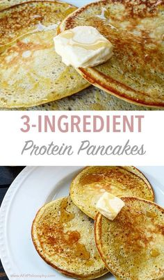 3-Ingredient Protein Pancakes, gluten free and super simple!