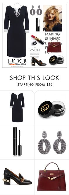 """Elegant Lady~"" by amy0527 ❤ liked on Polyvore featuring Gucci, Chanel, Oscar de la Renta and Hermès"