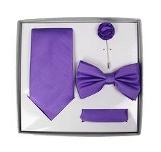 Dark Purple Tie Set
