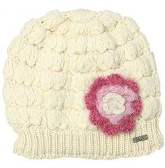 Delux Mohair Flower Beanie - More Colors (Ivory)