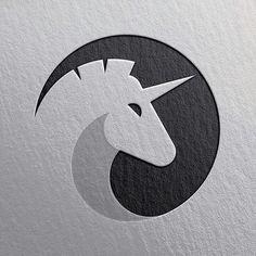 unicorn logo design, unicorn in circle abstract, ornamental animal logo design, horse black and white minimal geometric logo design inspiration ideas for branding and identity graphic design Creative Logo, Graphisches Design, Icon Design, Design Ideas, Logo D'art, Logo Animal, Unicorn Logo, Inspiration Logo Design, Geometric Logo