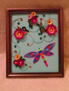 Quilled Dragonfly