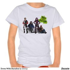Down With Auradon Disney Descendants Group shot T-shirt  Featured design available on many other shirt styles.  Take a look!