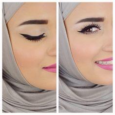 Eyebrows & Eyeliner tutorial .. كيفية رسم الحواجب والايلاينر