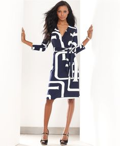 INC International Concepts Dress, Three-Quarter-Sleeve Graphic-Print - Womens INC Dresses - Macy's Review Dresses, Business Professional Attire, Business Casual, Fashion Branding, Fashion Dresses, Fashion Styles, Fashion Ideas, Fashion Trends, Moda Femenina