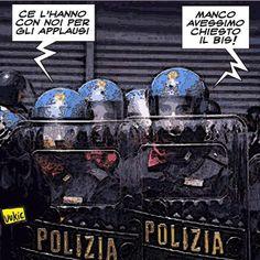 """ITALIAN COMICS - La """"Claque"""" del Sindacato Autonomo di Polizia """"Sap"""""""