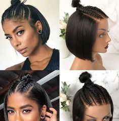 Box Braids Hairstyles, Braided Hairstyles For Short Hair, Relaxed Hairstyles, Amber Heard Hair, Curly Hair Styles, Natural Hair Styles, Short Hair Braid Styles, Lace Front Wigs, Lace Wigs