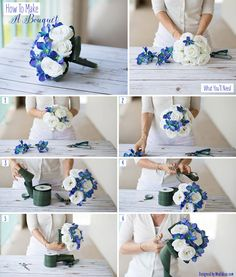 What You'll Need:Beautiful faux orchids and pre-made bouquets are all you need to make this bouquet, wrap in faux leaf ribbon for a unique modern look.Step 1: