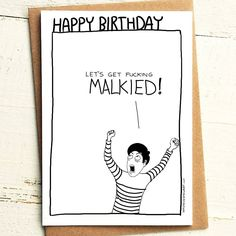 Let's get MALKIED Birthday Card - Brutally Honest Cards | Let's get drunk | Scottish | Bevvy | on the lash | by iamstevestewart on Etsy
